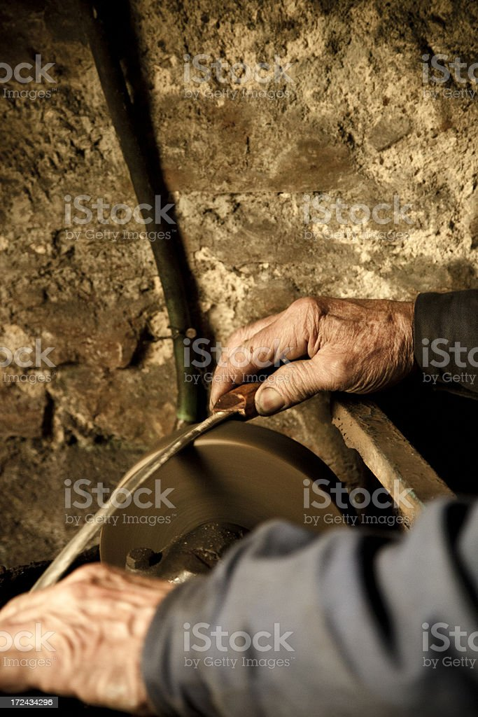 Senior Workers Hands royalty-free stock photo