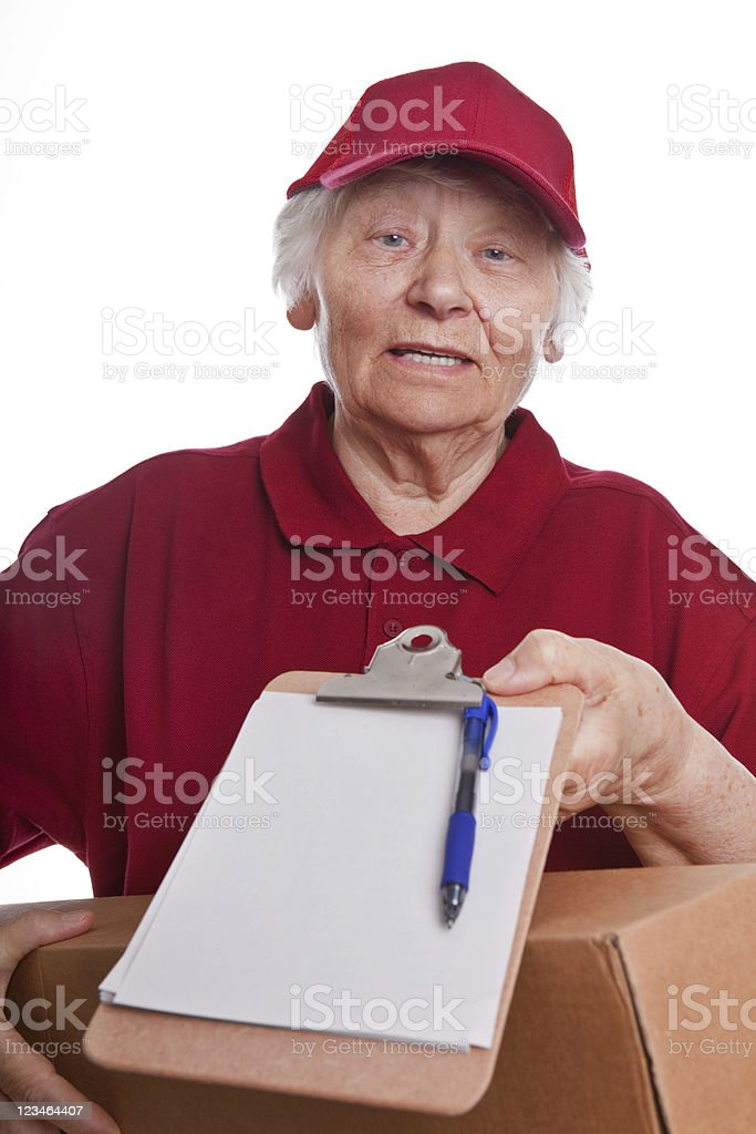 Senior workforce - messenger royalty-free stock photo