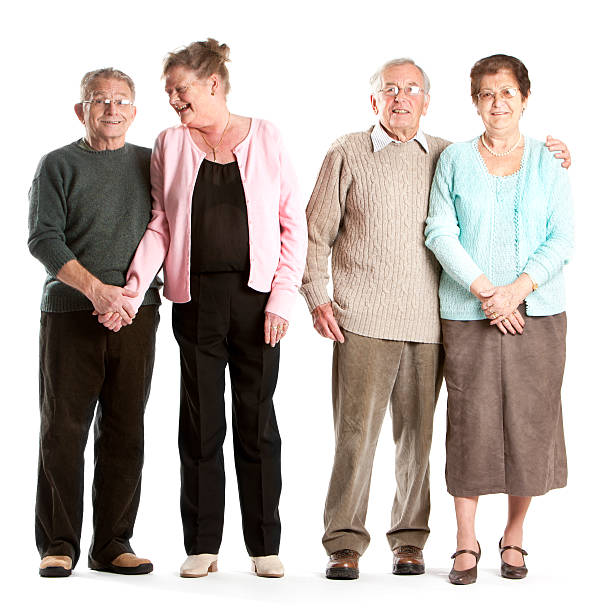 seniors: a class act stock photo