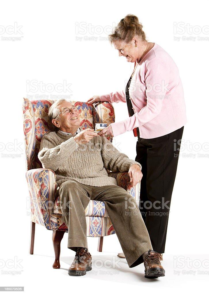 seniors: a welcome break stock photo
