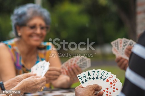 Senior Adult, Playing Card, Day, Retirement Community, Leisure Games,