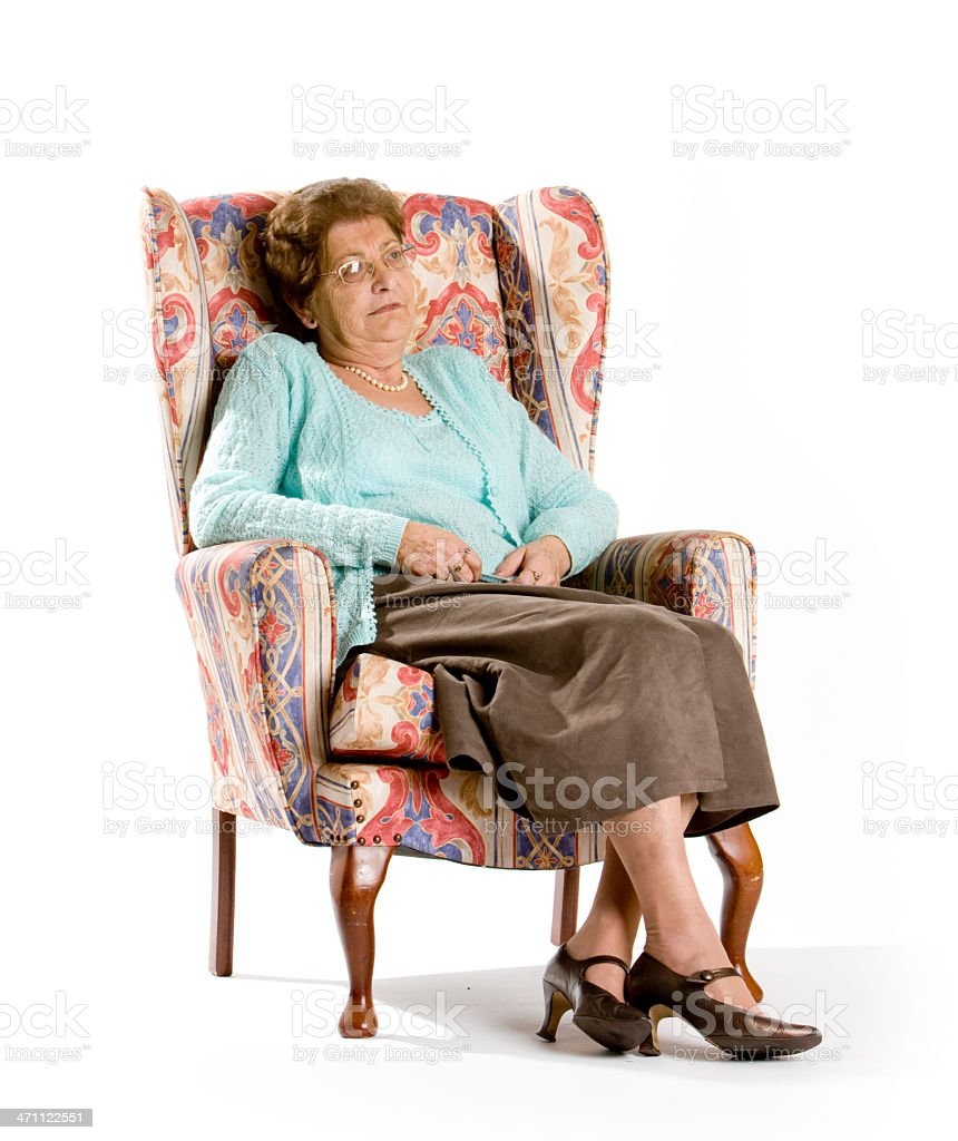 seniors: all alone royalty-free stock photo