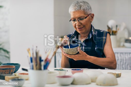 istock Seniors Ceramic Workshop 1090463350
