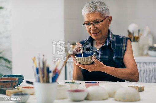 istock Seniors Ceramic Workshop 1090463350
