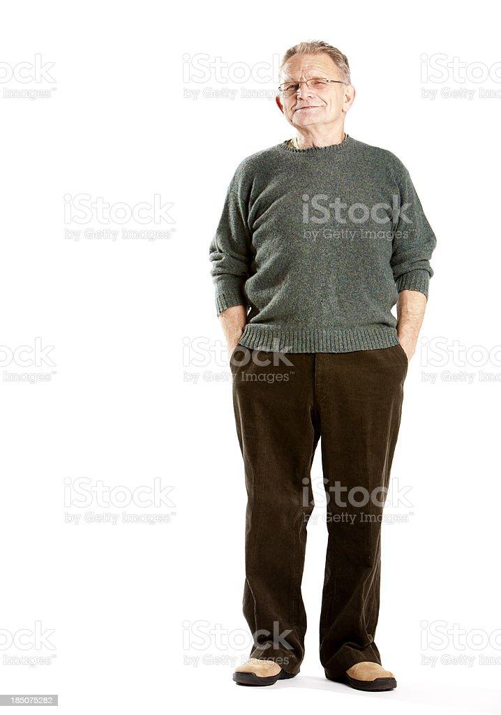 Senioren: Frechen Lächeln ein älterer Mann – Foto