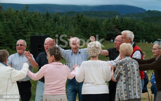 458694311 istock photo Seniors Dancing Outdoors 458630383