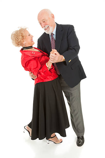 seniors dancing - the dip - senior valentine stock photos and pictures