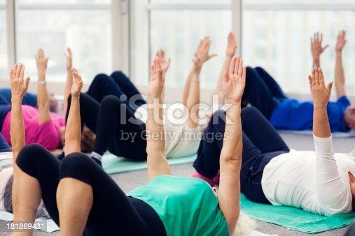 1047537292istockphoto Seniors Doing Pilates Exercises 181869431