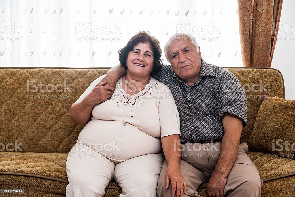 Seniors' Domestic Life stock photo