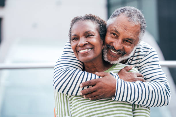 Seniors . enjoying time together Couple of seniors together african american ethnicity stock pictures, royalty-free photos & images