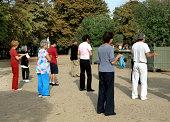 """""""Seniors Exercise Class, Outside, Paris"""""""