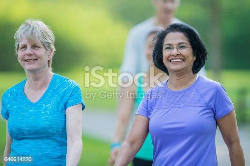 646614234 istock photo Seniors Exercising Together 646614220