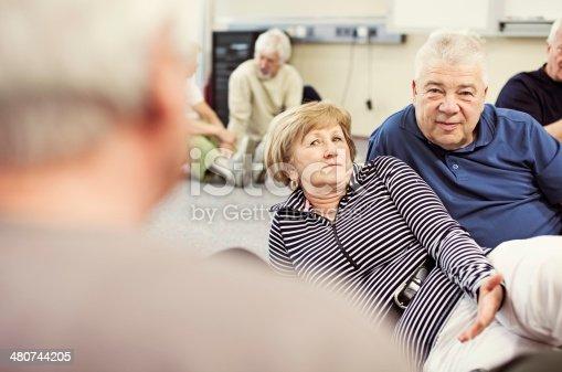 511741068 istock photo Seniors Having Conversation In Community Center 480744205