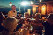 istock Seniors Having Dinner On Rooftop 1063817848