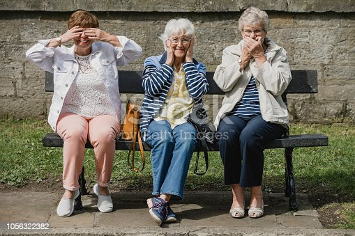 istock Seniors Imitating the Three Wise Monkeys 1056322382