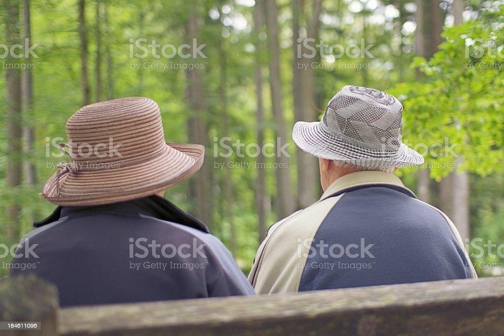Seniors in Nature stock photo