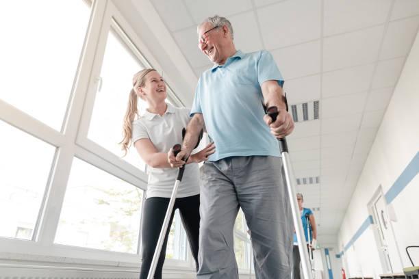 Seniors in rehabilitation learning how to walk with crutches picture id1194508750?b=1&k=6&m=1194508750&s=612x612&w=0&h=tlydeylsxfz 5fiab gycz9skcbu0t0f1newaj gszy=