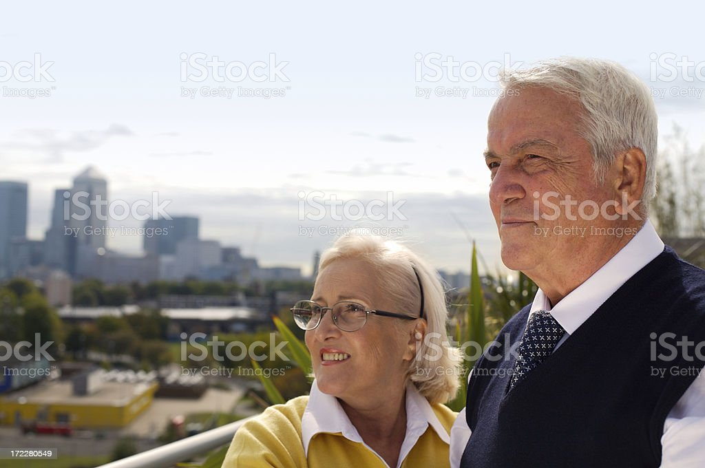 Seniors in the city royalty-free stock photo