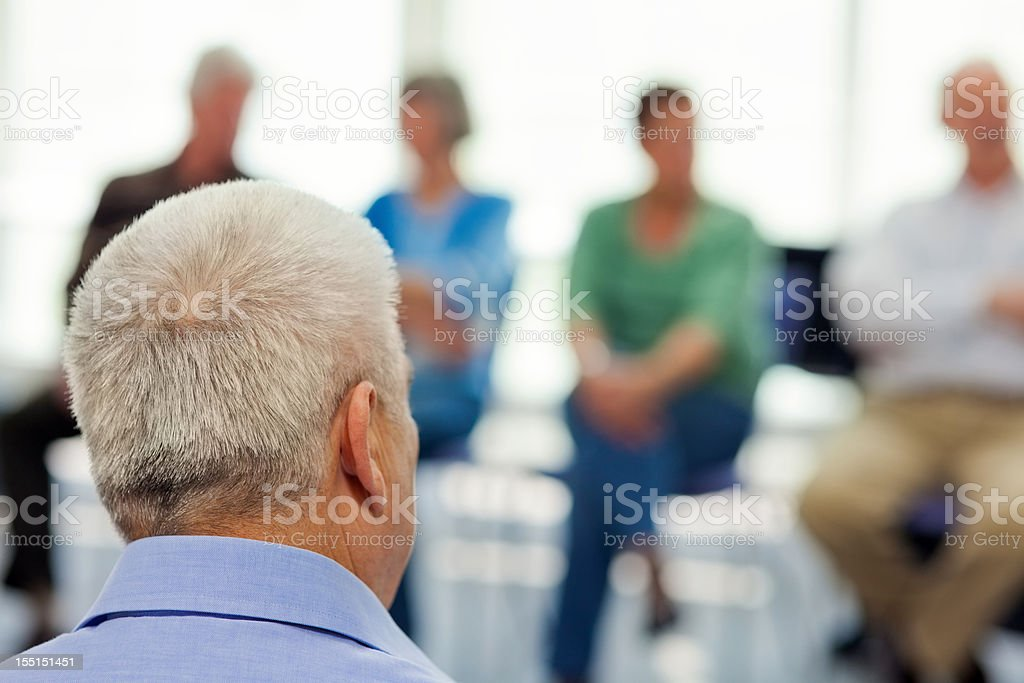 Seniors in the community center royalty-free stock photo