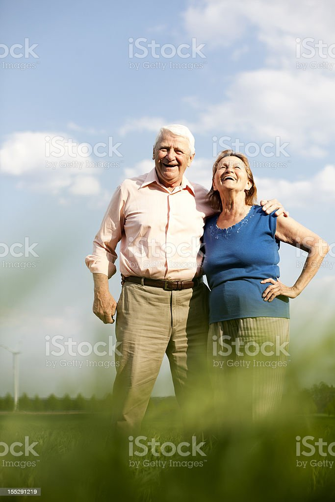 seniors in the nature royalty-free stock photo