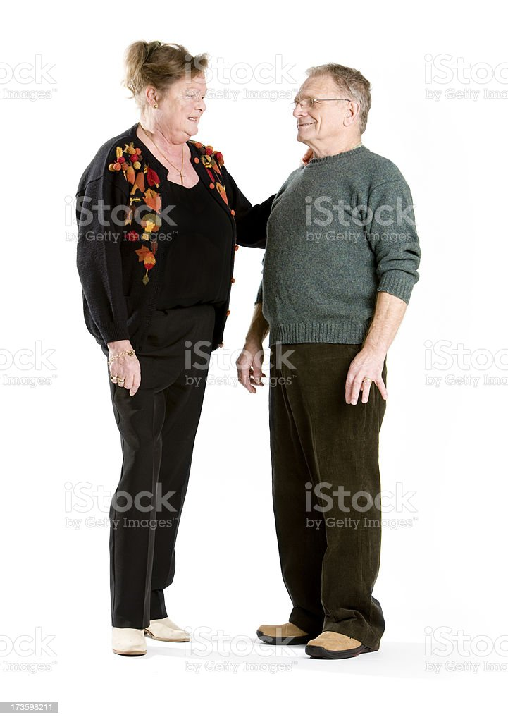 seniors: just chatting royalty-free stock photo