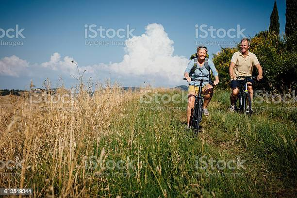 Seniors on mountain bikes in the countryside picture id613549344?b=1&k=6&m=613549344&s=612x612&h=p0djyobgcqaoerx9wwh2toghtr5 pxbf9hfu4f m5s4=