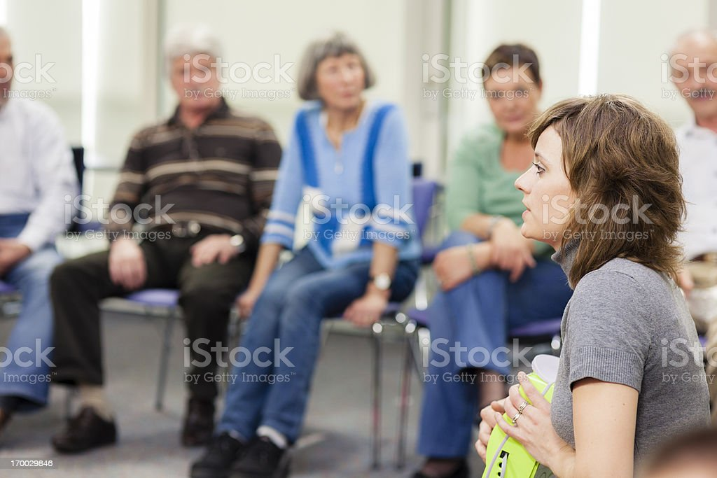 Seniors on Seminar royalty-free stock photo