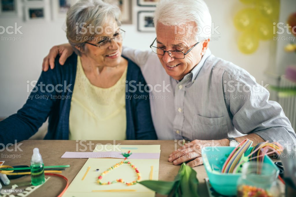 Seniors pastime stock photo