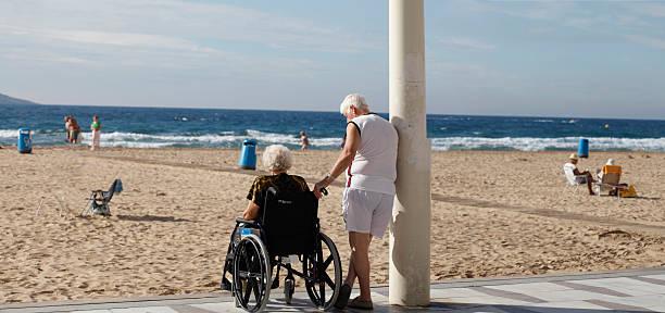 Seniors (panorama version) stock photo