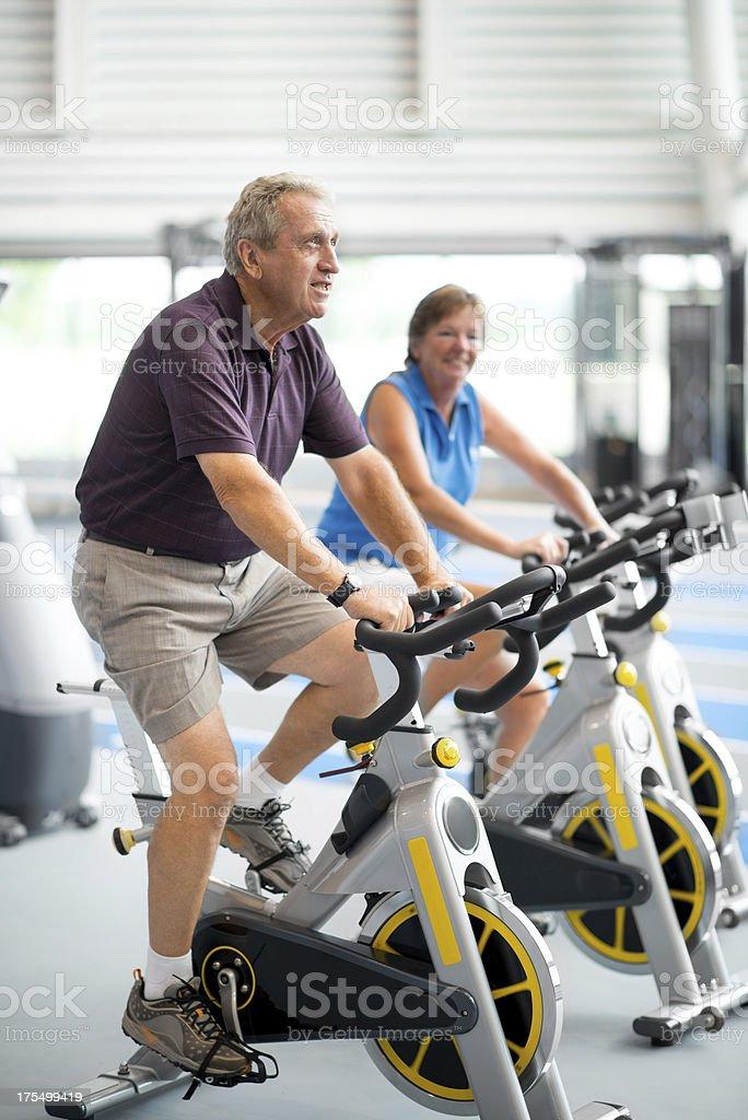 Seniors spinning stock photo