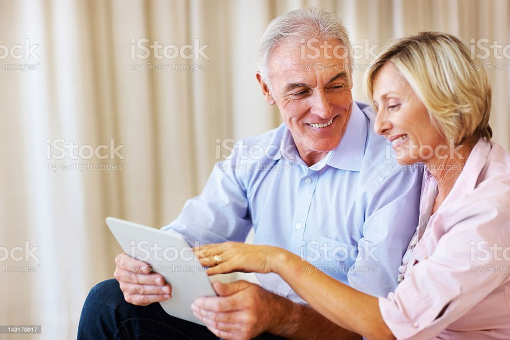 Seniors surfing the net with ease royalty-free stock photo