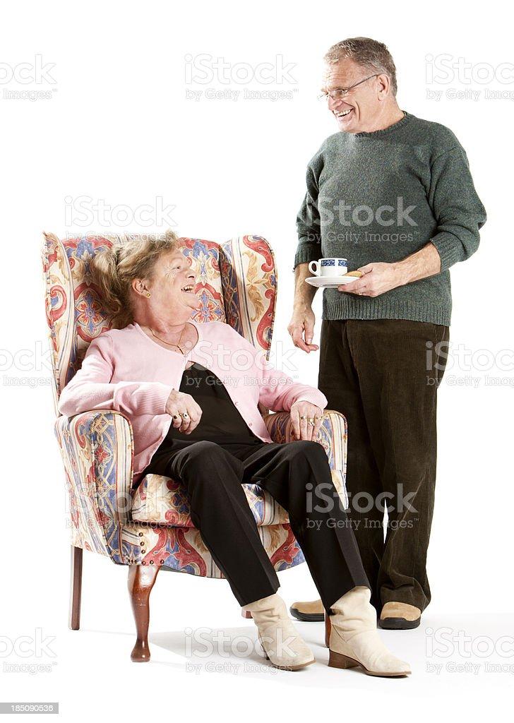 seniors: time for tea stock photo