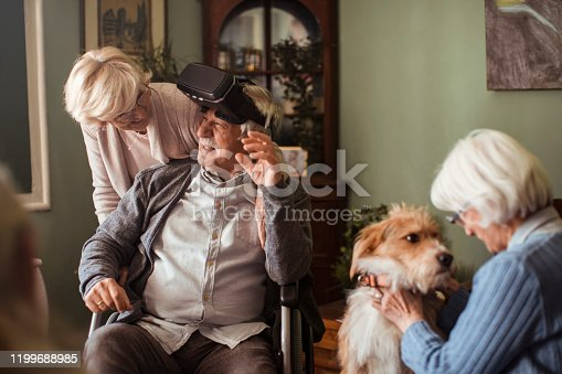 1053414472 istock photo Seniors using VR 1199688985