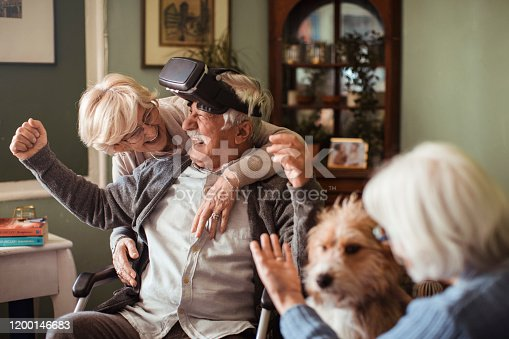1053414472 istock photo Seniors using VR 1200146683