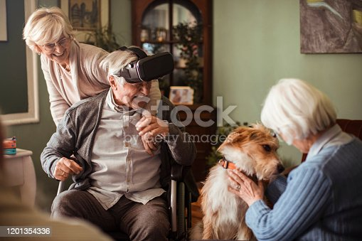 1053414472 istock photo Seniors using VR 1201354336