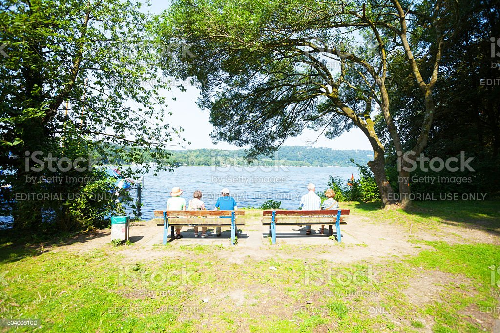 Senioren bei lake Baldeneysee – Foto