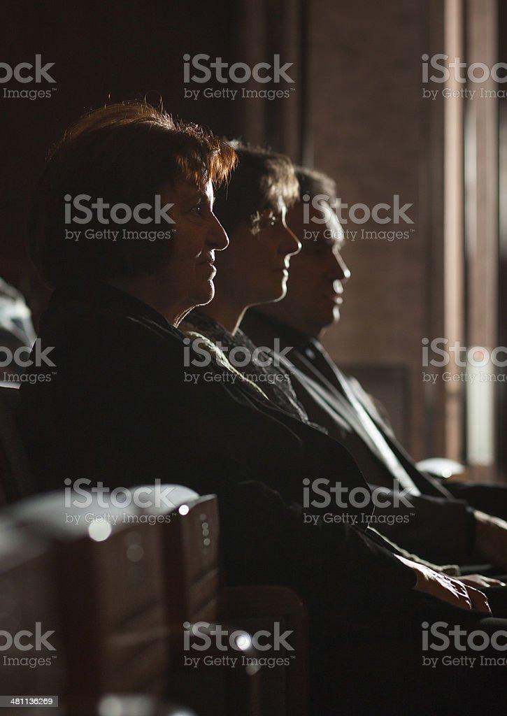 Seniors watching theatre show stock photo