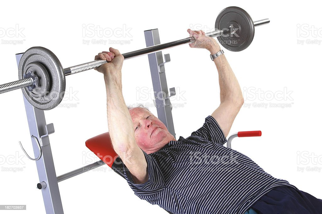 Seniour in fitness royalty-free stock photo