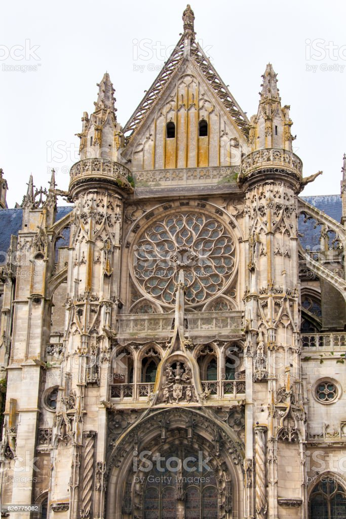 Senlis Cathedral, Oise, France stock photo
