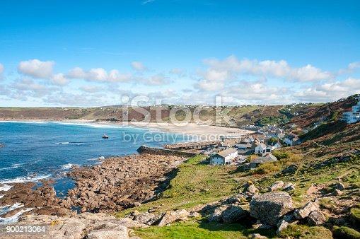 Sennen Beach In Cornwall, England