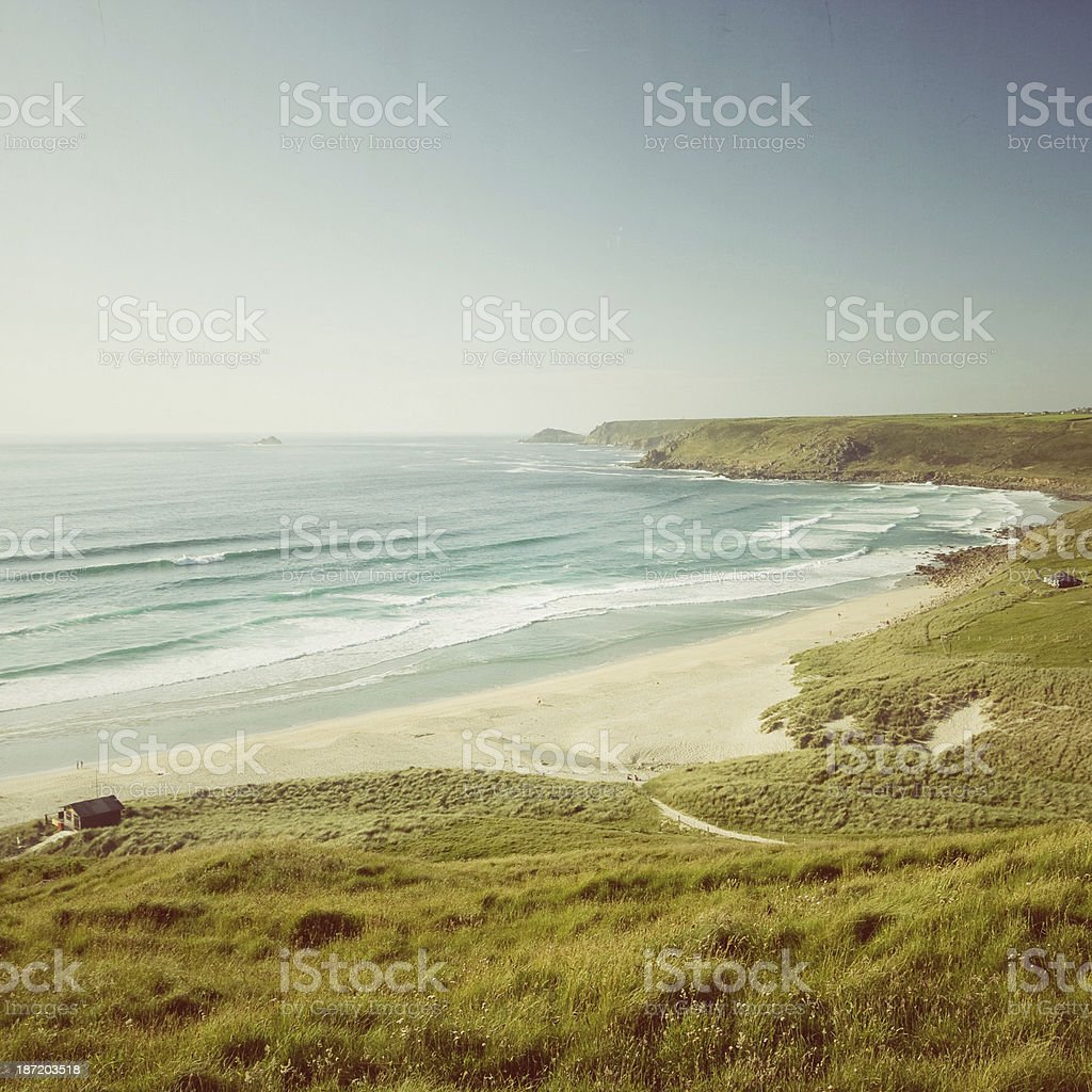 Sennen beach in West Cornwall royalty-free stock photo