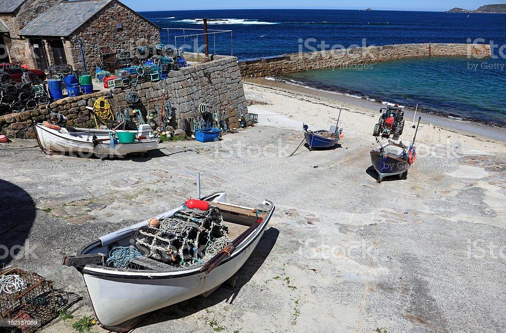 Sennen Cove Boats stock photo