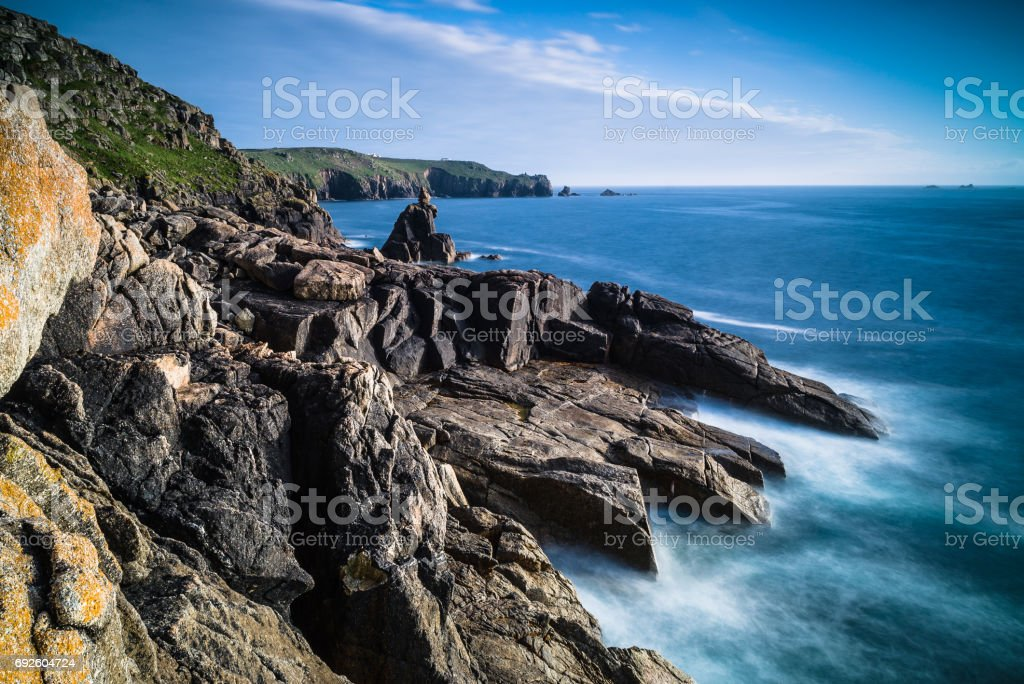 Sennen Cove Rocks stock photo