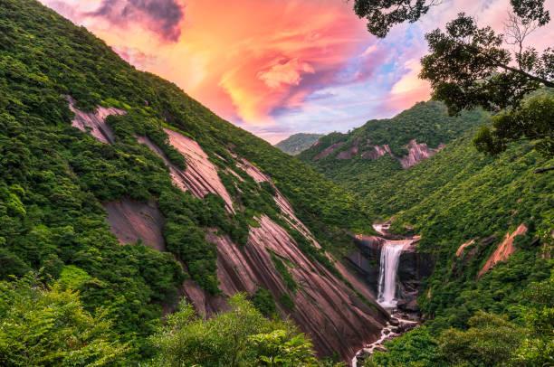 Senpiro-no-taki Waterfall, Yakushima Island stock photo