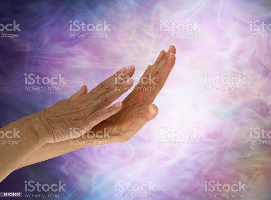 Sensing the light stock photo