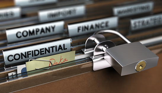 Sensitive Data Protection Poor Security Stock Photo - Download Image Now