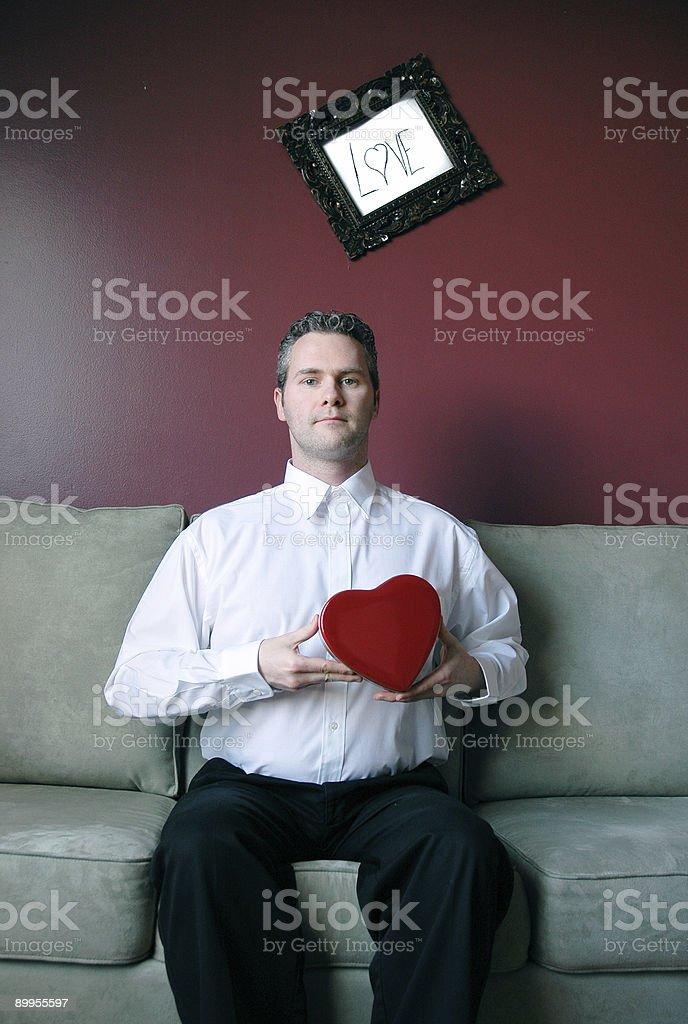 Homem sensível - foto de acervo