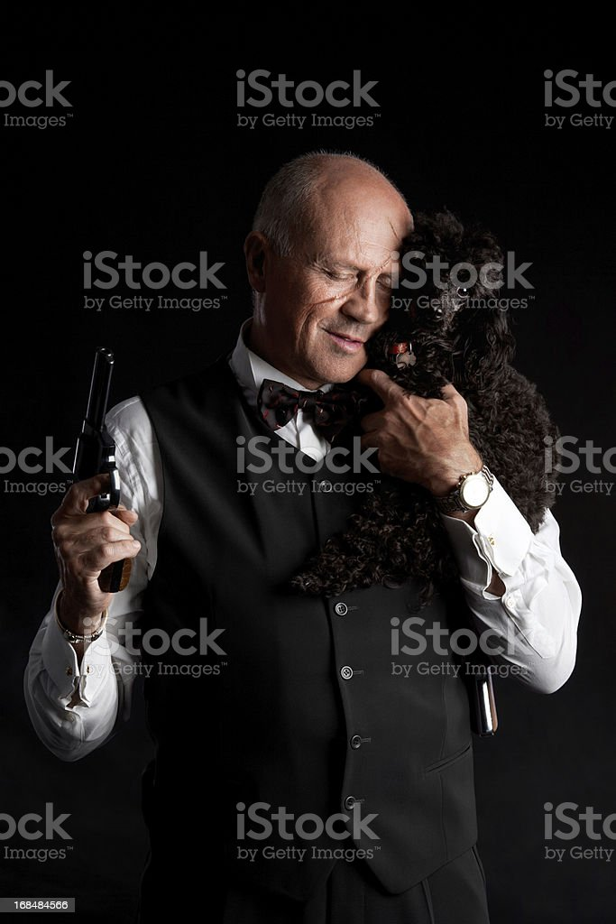 Sensitive Mobster stock photo