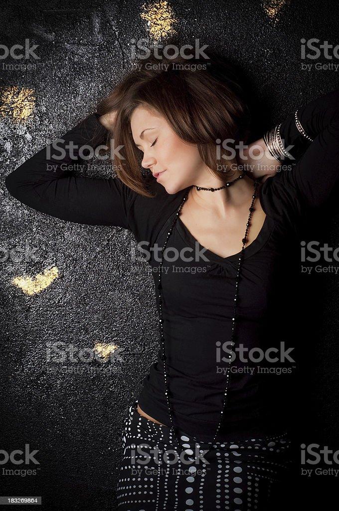 Sensitive studio portrait stock photo