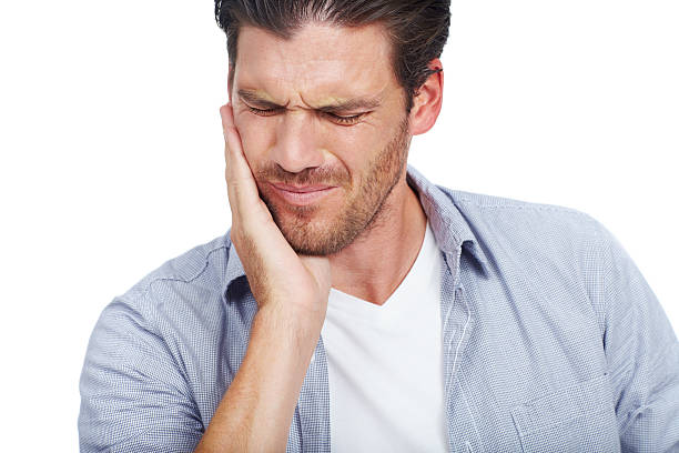 Sensitive teeth giving you a pain? stock photo